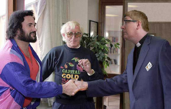 vicar visits Rolf Harris and Jimmy Savile
