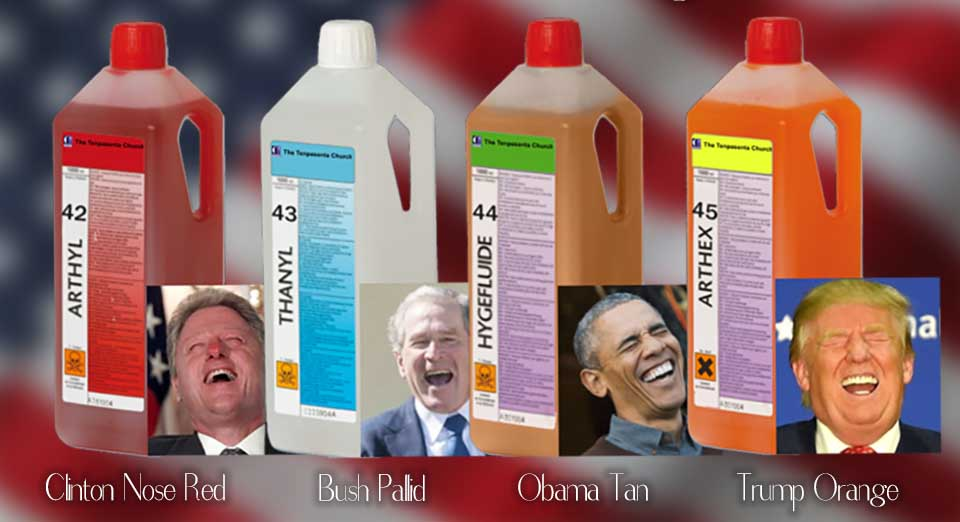presidential range of embalming fluids